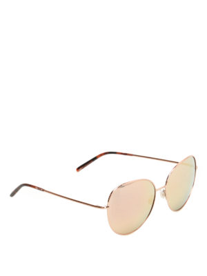 Dolce & Gabbana: sunglasses - Slim metal framed round sunglasses