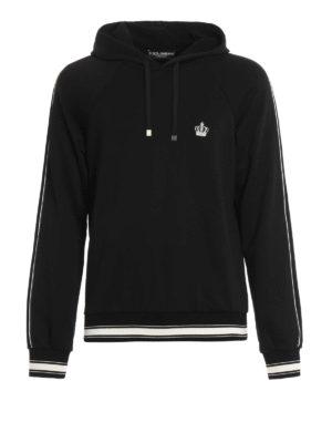 Dolce & Gabbana: Sweatshirts & Sweaters - Crown patch hooded sweatshirt