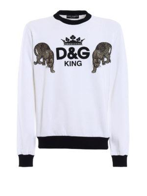 Dolce & Gabbana: Sweatshirts & Sweaters - D&G King print sweatshirt