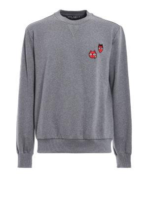 Dolce & Gabbana: Sweatshirts & Sweaters - #dgfamily patched sweatshirt