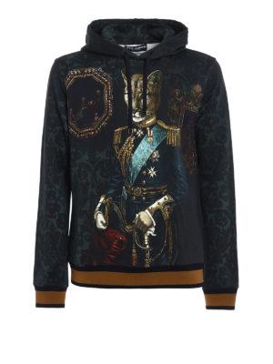 Dolce & Gabbana: Sweatshirts & Sweaters - Feline print hoodie