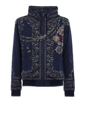 Dolce & Gabbana: Sweatshirts & Sweaters - Heraldic Sicilia printed hoodie