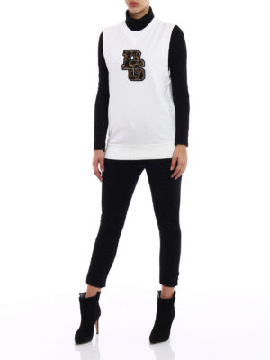Dolce & Gabbana: Sweatshirts & Sweaters online - Animal print DG patch sweatshirt