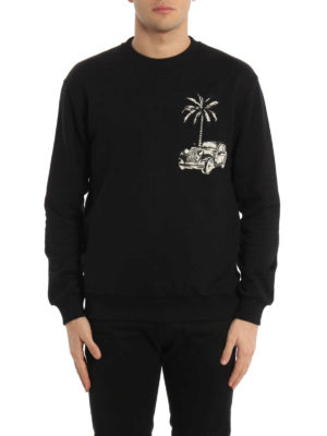Dolce & Gabbana: Sweatshirts & Sweaters online - Embroidered patch sweatshirt