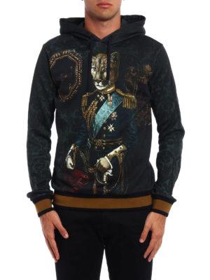Dolce & Gabbana: Sweatshirts & Sweaters online - Feline print hoodie