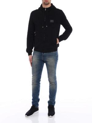 Dolce & Gabbana: Sweatshirts & Sweaters online - Logo plaque cotton hoodie