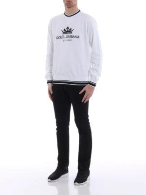Dolce & Gabbana: Sweatshirts & Sweaters online - Logomania crown cotton T-shirt