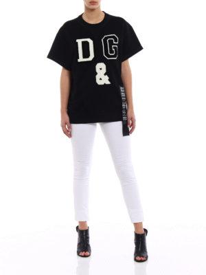 Dolce & Gabbana: Sweatshirts & Sweaters online - Maxi D&G patch sweatshirt