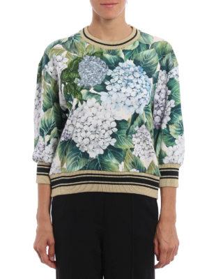 Dolce & Gabbana: Sweatshirts & Sweaters online - Ortensia print sweatshirt