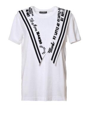 Dolce & Gabbana: t-shirts - Cotton jersey sailor T-shirt