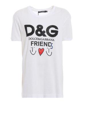 DOLCE & GABBANA: t-shirt - T-shirt con stampa D&G Friends
