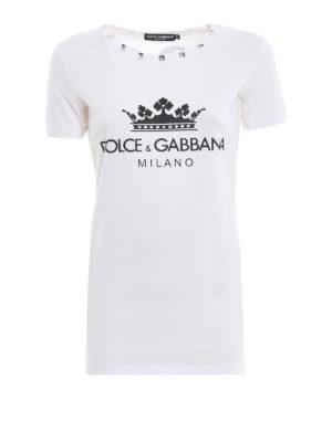 DOLCE & GABBANA: t-shirt - T-shirt gioiello 31 bianca in cotone
