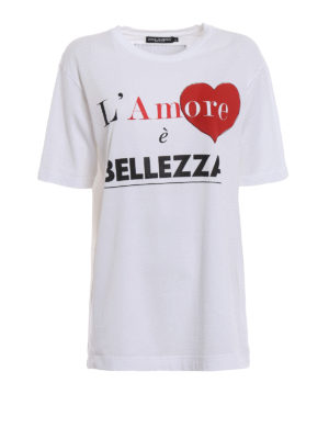 Dolce & Gabbana: t-shirts - Heart print jersey T-shirt