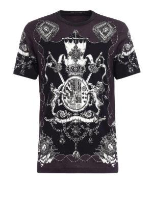 Dolce & Gabbana: t-shirts - Heraldic Sicilia print T-shirt