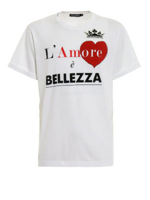 Dolce & Gabbana: t-shirts - L'Amore è Bellezza print T-shirt