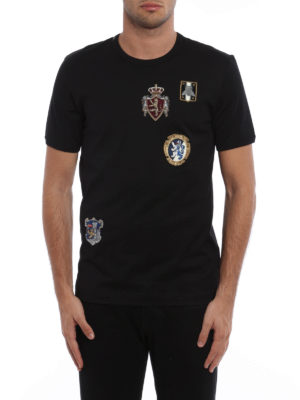 Dolce & Gabbana: t-shirts online - Cotton T-shirt with coats of arms