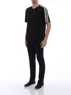 Dolce & Gabbana: t-shirts online - Crown print bands cotton T-shirt