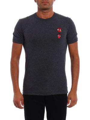 Dolce & Gabbana: t-shirts online - Devil designer patch T-shirt