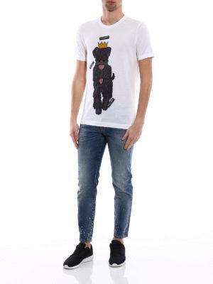 Dolce & Gabbana: t-shirts online - Dog print T-shirt
