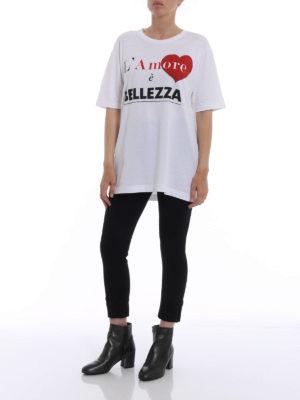 Dolce & Gabbana: t-shirts online - Heart print jersey T-shirt