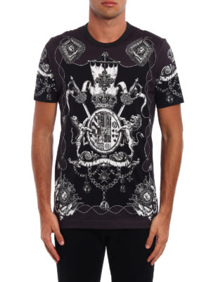 Dolce & Gabbana: t-shirts online - Heraldic Sicilia print T-shirt