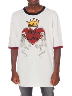 Dolce & Gabbana: t-shirts online - King of Love destroyed T-shirt