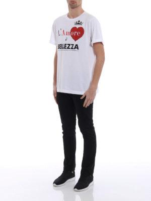 Dolce & Gabbana: t-shirts online - L'Amore è Bellezza print T-shirt