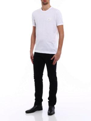 Dolce & Gabbana: t-shirts online - Logo plaque white T-shirt