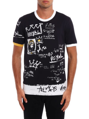 Dolce & Gabbana: t-shirts online - Royal printed T-shirt