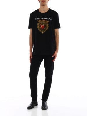 Dolce & Gabbana: t-shirts online - Sacred heart print T-shirt