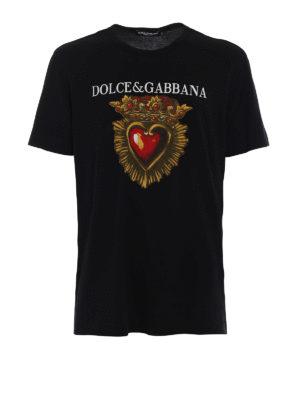 Dolce & Gabbana: t-shirts - Sacred heart print T-shirt