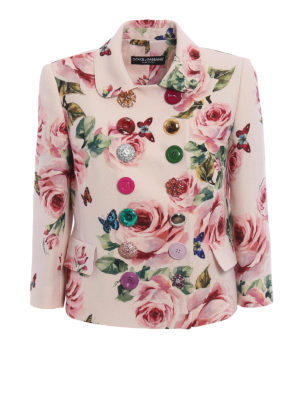 Dolce & Gabbana: Tailored & Dinner - Flower print wool and silk jacket