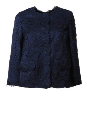 Dolce & Gabbana: Tailored & Dinner - Lace crew neck jacket