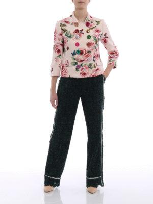 Dolce & Gabbana: Tailored & Dinner online - Flower print wool and silk jacket