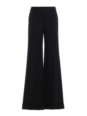 Dolce & Gabbana: Tailored & Formal trousers - Cool wool palazzo trousers