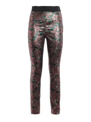 Dolce & Gabbana: Tailored & Formal trousers - Iridescent brocade cigarette pants