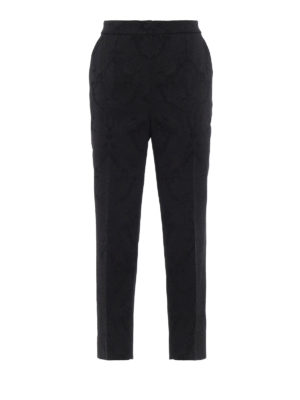 DOLCE & GABBANA: Pantaloni sartoriali - Pantaloni in jacquard stretch effetto pizzo