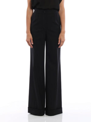 Dolce & Gabbana: Tailored & Formal trousers online - Cool wool palazzo trousers