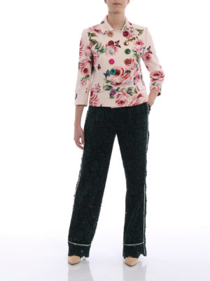 Dolce & Gabbana: Tailored & Formal trousers online - See-through cordonetto lace pants