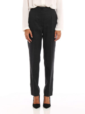 Dolce & Gabbana: Tailored & Formal trousers online - Wool blend cigarette trousers