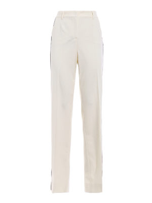 Dolce & Gabbana: Tailored & Formal trousers - Satin bands wool crepe trousers