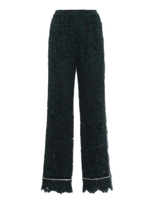 Dolce & Gabbana: Tailored & Formal trousers - See-through cordonetto lace pants