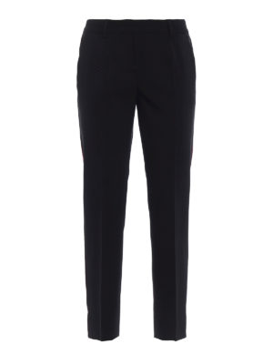 Dolce & Gabbana: Tailored & Formal trousers - Silk bands wool tailored trousers