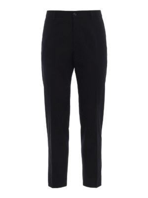 DOLCE & GABBANA: Pantaloni sartoriali - Pantaloni formali in misto lana tinta unita