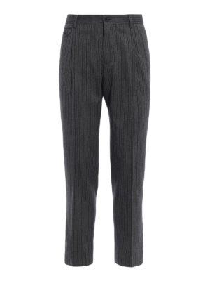 DOLCE & GABBANA: Pantaloni sartoriali - Pantaloni eleganti in cotone e lana