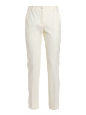 Dolce & Gabbana: Tailored & Formal trousers - Virgin wool cigarette trousers