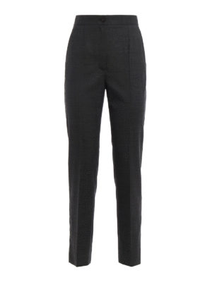 Dolce & Gabbana: Tailored & Formal trousers - Wool blend cigarette trousers