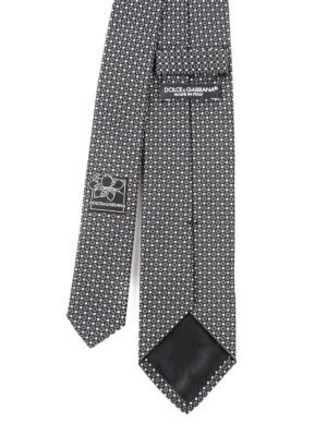 Dolce & Gabbana: ties & bow ties online - Patterned silk tie
