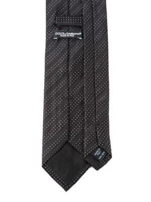 Dolce & Gabbana: ties & bow ties online - Polka-dots striped silk tie