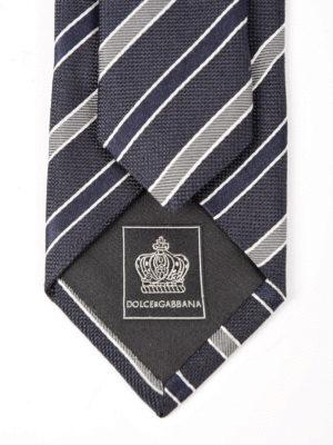 Dolce & Gabbana: ties & bow ties online - Silk regimental tie
